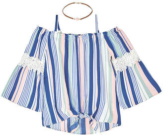 BY AND BY GIRL by&by girl Girls 3/4 Sleeve Blouse Big Kid