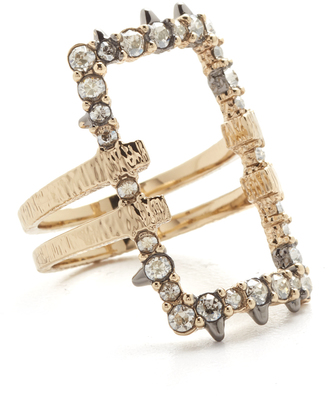 Alexis Bittar Crystal Encrusted Oversize Link Ring $125 thestylecure.com