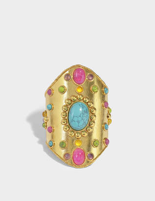 Wonder Byzance Cuff Bracelet in Gold-Plated Brass with Multi-Stones Sylvia Toledano 3ebRn5MqN