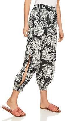 1 STATE 1.STATE Palm-Print Cropped Harem Pants
