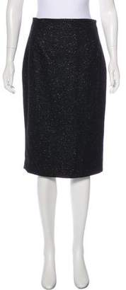 John Galliano Virgin Wool Bow-Accented Skirt
