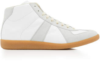 Maison Margiela Replica High Top Suede Sneakers