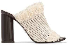 Proenza Schouler Fringed Woven Canvas Mules