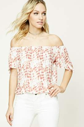 Forever 21 Contemporary Tie-Dye Top