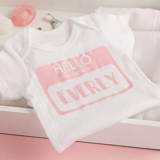 e17528b0cc4ad DCaro Personalised 'My Name Is' Bodysuit
