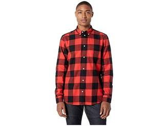 Wesc Olavi Plaid Long Sleeve Shirt Men's Clothing