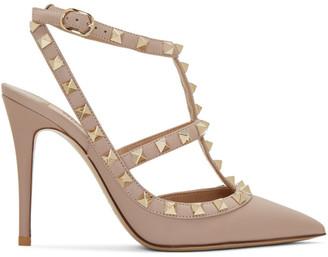 Valentino Pink Rockstud Cage Heels $995 thestylecure.com