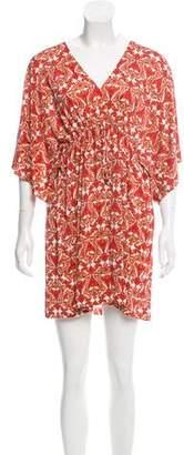 Nieves Lavi Silk Printed Dress w/ Tags
