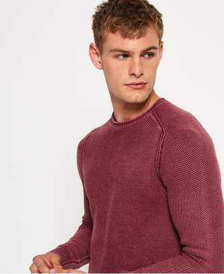 Superdry Garment Dyed LA Textured Crew Jumper