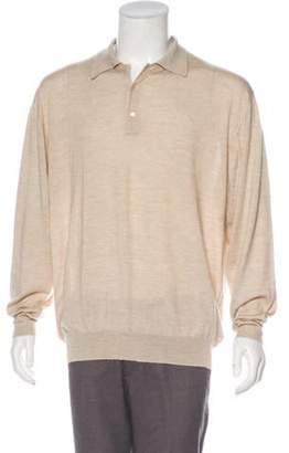 Malo Cashmere & Silk Polo Sweater tan Cashmere & Silk Polo Sweater