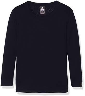 Trigema Girl's 202501 Regular Fit Crew Neck Long Sleeve Longsleeve T - Shirt - Blue - 10 Years
