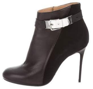 Viktor & Rolf Leather Round-Toe Ankle Boots