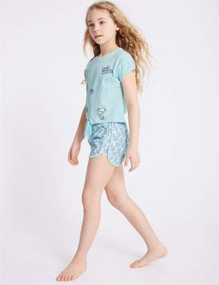 Marks and Spencer Pure Cotton Printed Pyjamas (3-16 Years)