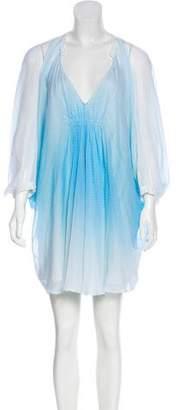 Diane von Furstenberg Silk Pleated Knee-Length Dress
