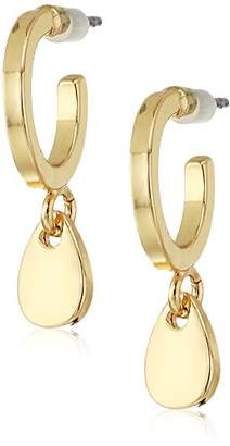 French Connection Women's Small Hoop Drop Earrings