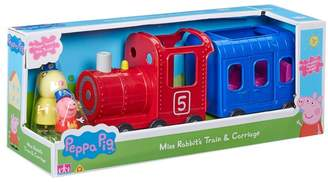 Peppa Pig Girls Miss Rabbit's Train And Carriage