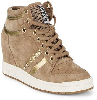 Ash Women's Prince Leather Wedge Sneakers