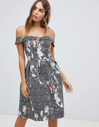 Bardot Dolly & Delicious full prom midi dress with pockets in floral print