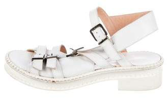 Robert Clergerie Leather Buckle Sandals