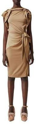 Burberry Knotted Jersey Dress