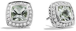 David Yurman Petite Albion Earrings with Prasiolite and Diamonds