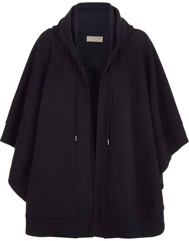 Jersey Asymmetric Hooded Poncho