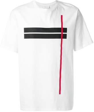 Neil Barrett contrast stripe T-shirt