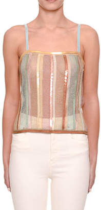 Missoni Sewn-In Sequin Knit Cami Top