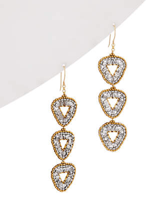 Miguel Ases 14K Gold Filled Drop Earrings