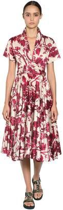 Antonio Marras Printed Cotton Blend Midi Dress