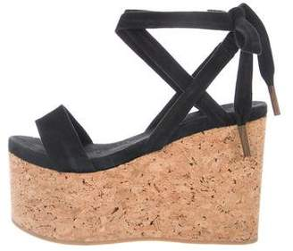 Isabel Marant Cork Platform Wedge Sandals