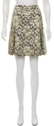 Miu Miu Embroidered Mini Skirt