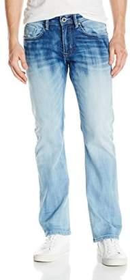 Buffalo David Bitton Men's King Slim Boot Cut Fashion Jean Wash