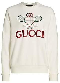 Gucci Women's Heavy Felted Jersey Tennis Sweatshirt
