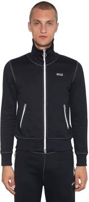 Ami Alexandre Mattiussi Zip-Up Tech Jersey Knit Track Jacket