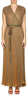 Missoni Women's Metallic Rib-Knit Wrap Dress