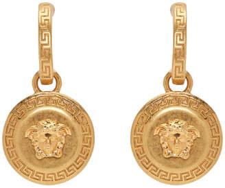 Versace Gold Medusa Tribute Pendant Earrings