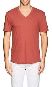 James Perse MEN'S COTTON V-NECK T-SHIRT-ORANGE SIZE XXS