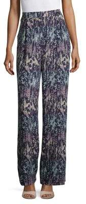 BCBGMAXAZRIA Jaques Printed Wide-Legged Pants