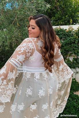 Forever 21 Plus Size Embroidered Duster Kimono