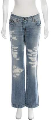 Dolce & Gabbana Mid-Rise Distressed Jeans