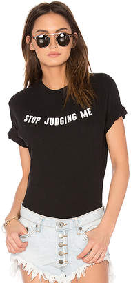 Wildfox Couture Stop Judging Bodysuit in Black $88 thestylecure.com