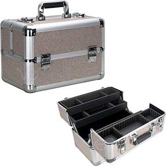 Ver Beauty Ver Beauty 4-tiers Extendable Trays Professional Cosmetic Makeup Train Case Organizer Travel Dividers - Vk3403