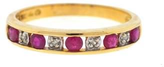 Rubie's Costume Co 10K Yellow Gold & 0.04ct. Diamonds Band Ring Size 7.0
