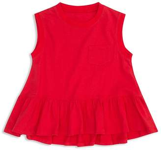 Hudson Girls' Ruffled Pocket Tank - Big Kid