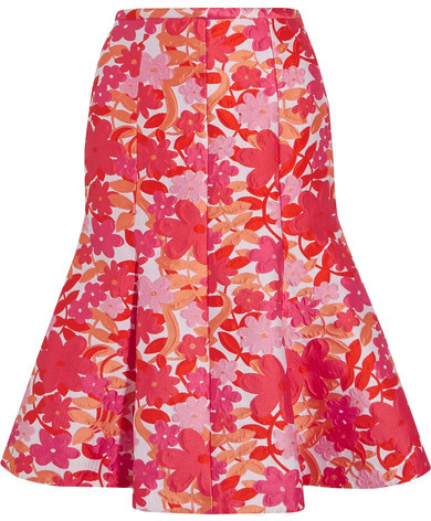 Michael Kors Collection - Floral-jacquard Skirt - Pink