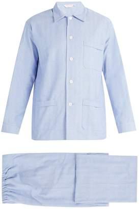 Derek Rose Classic Fit brushed cotton pyjama set