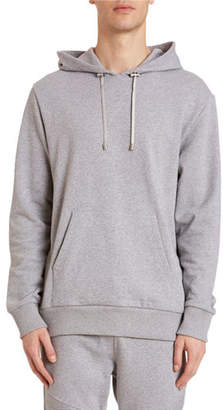 Balmain Men's Logo-Graphic Side-Zip Hoodie