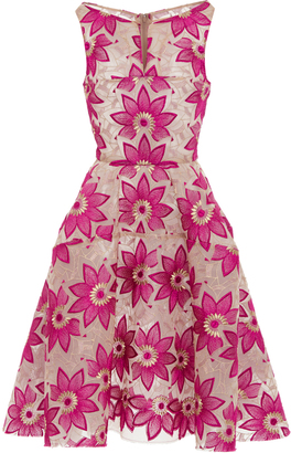 Zac Posen Sleeveless Hibiscus Embroidery Cocktail Dress $2,290 thestylecure.com