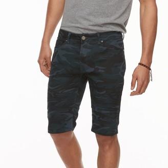X-Ray Xray Men's XRAY Slim-Fit Camo Moto Stretch Denim Shorts